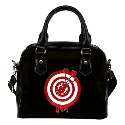 Valentine Sweet New Jersey Devils Dart Couple Love Shoulder Handbags