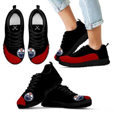 Valentine Love Red Colorful Edmonton Oilers Sneakers