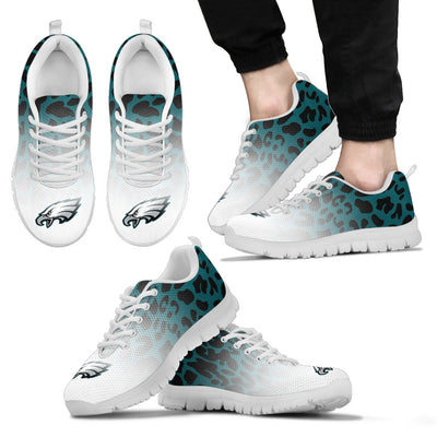 Leopard Pattern Awesome Philadelphia Eagles Sneakers