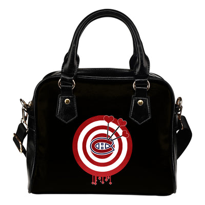 Valentine Sweet Montreal Canadiens Dart Couple Love Shoulder Handbags