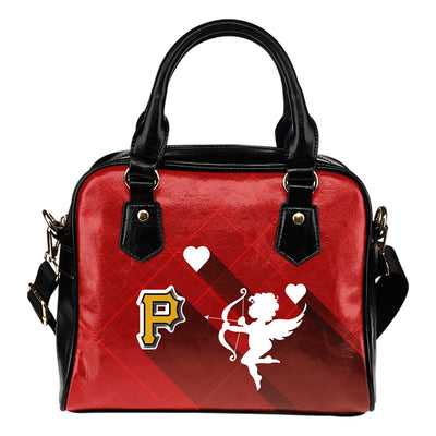 Superior Cupid Love Delightful Pittsburgh Pirates Shoulder Handbags