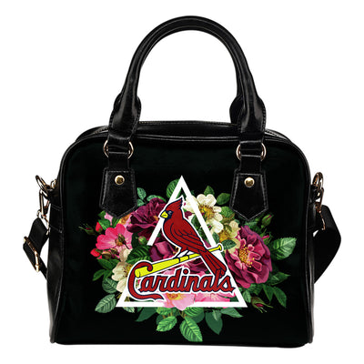 Floral Rose Valentine Logo St. Louis Cardinals Shoulder Handbags