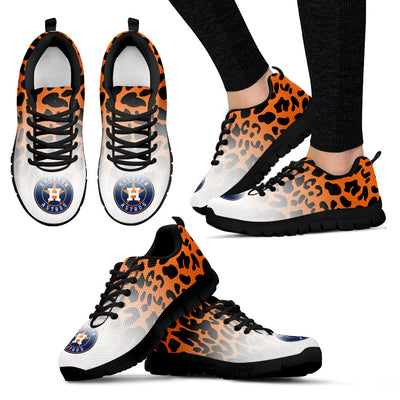 Leopard Pattern Awesome Houston Astros Sneakers