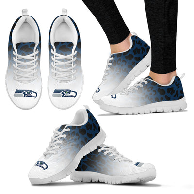 Leopard Pattern Awesome Seattle Seahawks Sneakers