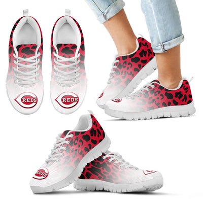 Leopard Pattern Awesome Cincinnati Reds Sneakers