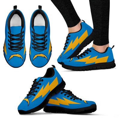 Great Los Angeles Chargers Sneakers Thunder Lightning Amazing Logo