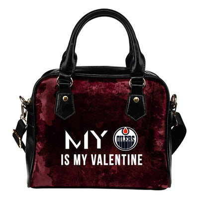 My Perfectly Love Valentine Fashion Edmonton Oilers Shoulder Handbags
