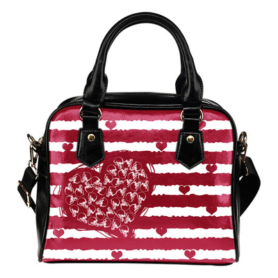 Sweet Romantic Love Frames Cleveland Browns Shoulder Handbags