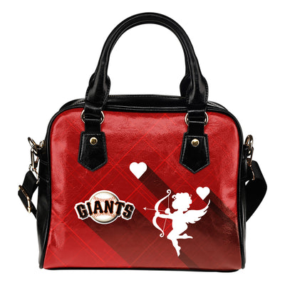 Superior Cupid Love Delightful San Francisco Giants Shoulder Handbags