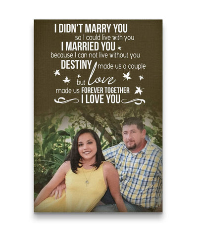 Happy Couple Custom Canvas Print - Destiny made us a couple but love made us forever together