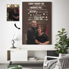 Happy Christmas Love - I can not live without you Custom Canvas Print