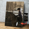 Little Girl with Horse Custom Canvas Print -  I will simply breathe