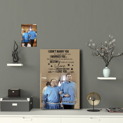 Happy Couple Everyday Custom Canvas Print - Destiny Made Us A Couple