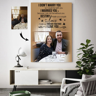 Happy Together Love Made A Forever Couple Custom Canvas Print