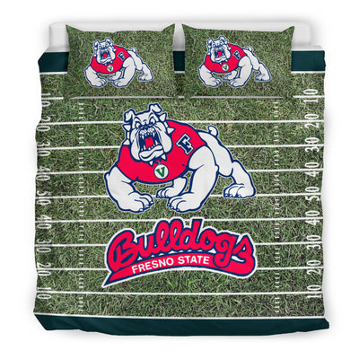 Sport Field Large Fresno State Bulldogs Bedding Sets