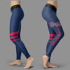 Through Great Logo Spread Body Striped Circle Atlanta Braves Leggings