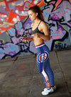 Single Small Line Circle Stylish Fashion Chicago Cubs Leggings