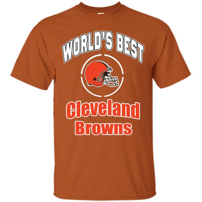 Amazing World's Best Dad Cleveland Browns T Shirts
