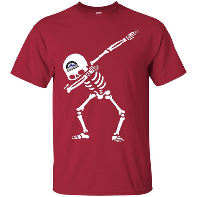 Dabbing Skull Colorado Rockies T Shirts