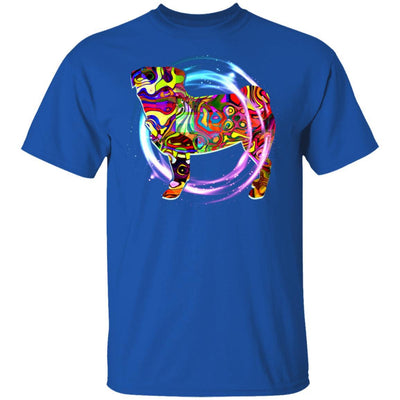 Psychedelic Pug Tshirt Puppy Gift For Lover