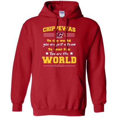 To Your Fan You Are The World Central Michigan Chippewas T Shirts