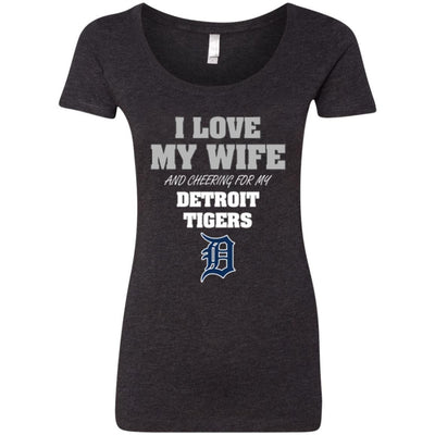I Love My Wife And Cheering For My Detroit Tigers T Shirts