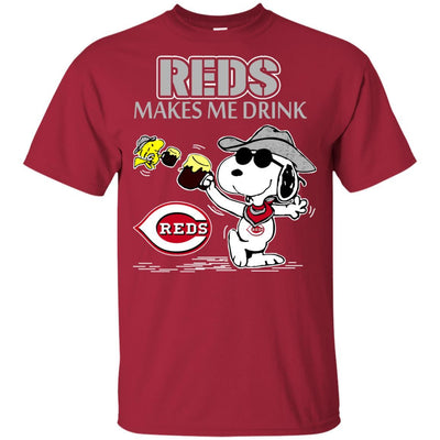 Cincinnati Reds Makes Me Drinks T Shirt