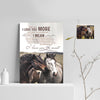 I Say I Love You More - I Love You The Most Horse Custom Canvas Print