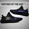 Art Scratch Mystery Navy Midshipmen Yeezy Shoes