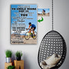 Smile More - Worry Less - Today Is A Good Day Cycling Custom Canvas Print