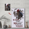 Strong Enough To Let Go Custom Canvas Print