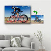 What If I Fall - What If You Fly Cycling Custom Canvas Print