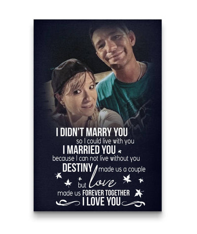 Happy Couple Love is patient, love is kind Custom Canvas Print