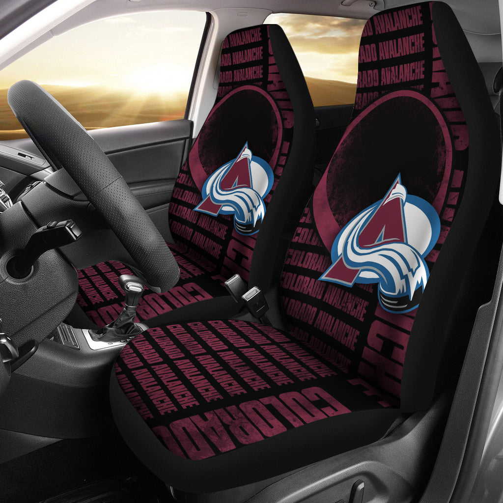 Remarkable Gorgeous The Victory Colorado Avalanche Car Seat Covers Caraccident5 Cool Chair Designs And Ideas Caraccident5Info