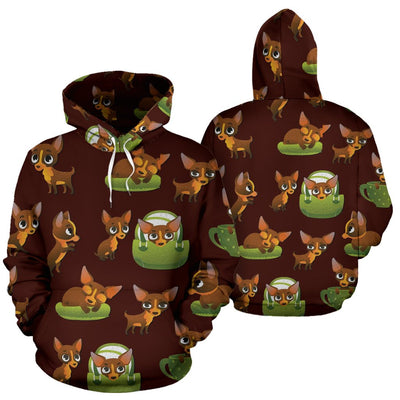 Pose Pattern Chihuahua All Over Printed Hoodies