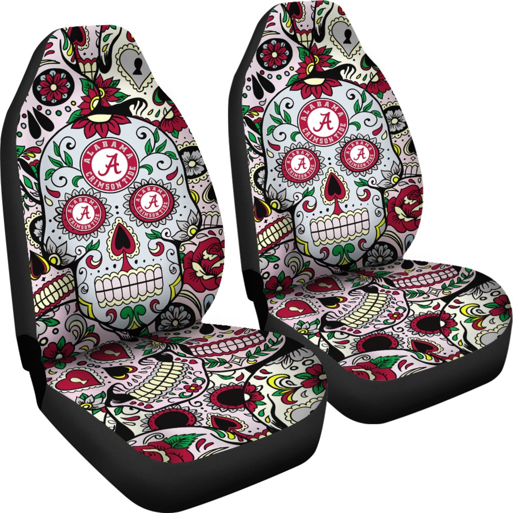 Enjoyable Party Skull Alabama Crimson Tide Car Seat Covers Ibusinesslaw Wood Chair Design Ideas Ibusinesslaworg