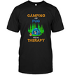 Camping And Pug Are My Therapy T Shirts