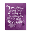 Colorful Purple Nothing Beats Being Your Mother Canvas Prints