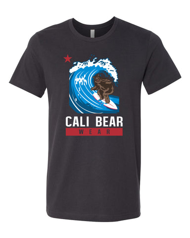 Cali Bear Surfing T-Shirt