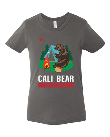 Cali Bear Camping Youth Tee