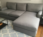 Crate & Barrel Ellyson Sectional with Right Arm Chaise