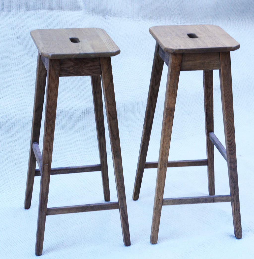 Restoration Hardware Oak Counter Stools