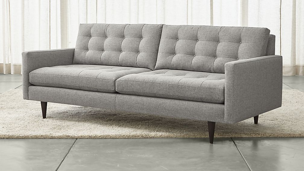 Crate & Barrel Gray Midcentury Couch