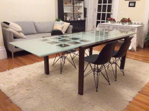 Ligne Roset Extensia Cherry & Glass Dining Table with Chairs – cozlife