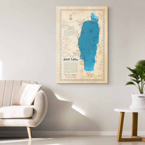 Bear Lake Historical Canvas Map