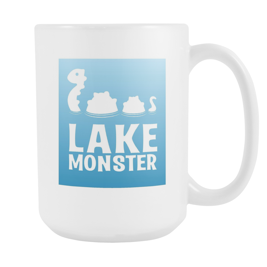 Lake Monster Mug (White 15 oz.)