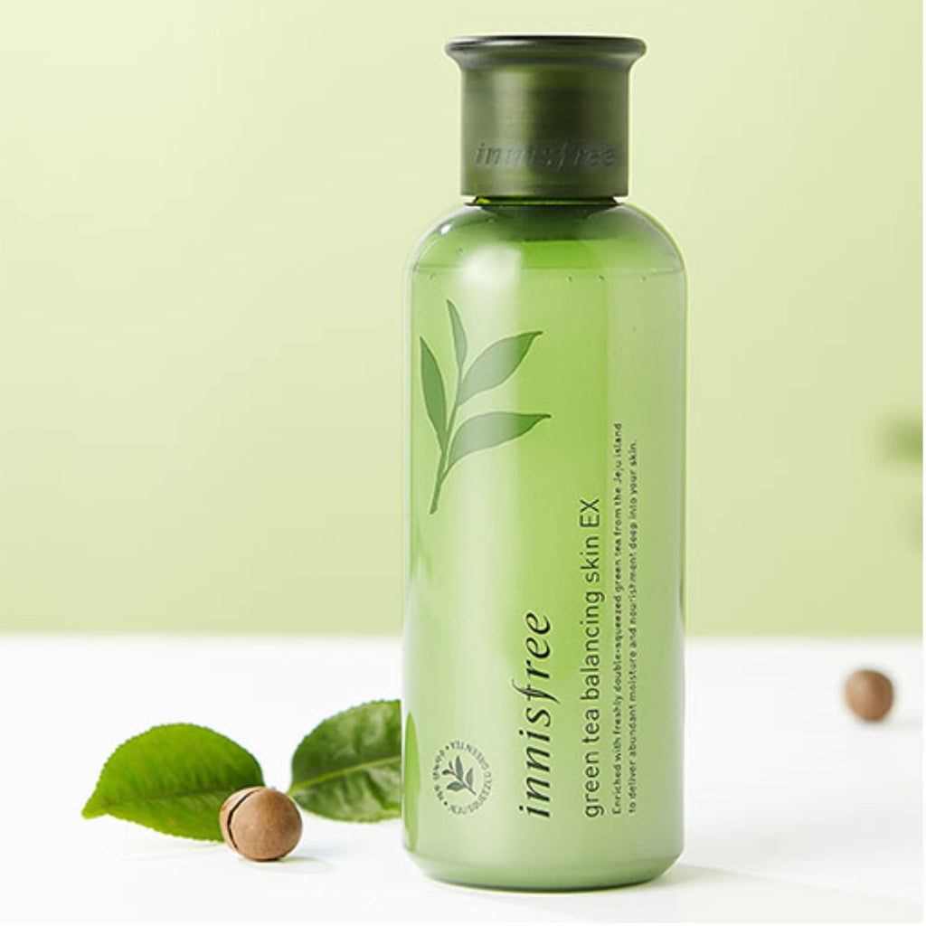 Innisfree Green Tea Balancing Skin Toner Ex Koryo Beauty Special Kit 4 Items