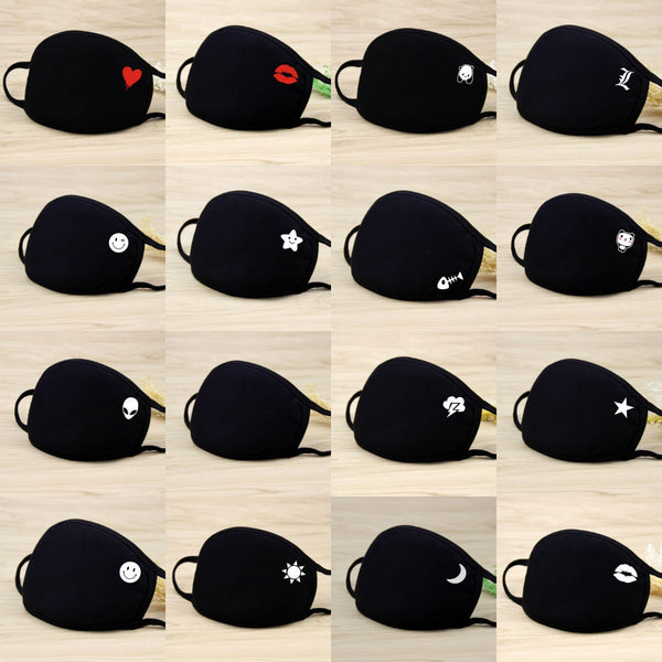 Wholesale Unisex Face Mouth Mask Washable Mouth-muffle Respirator Cartoon Cotton Masks Outdoor Health Care Masks Drop Shipping