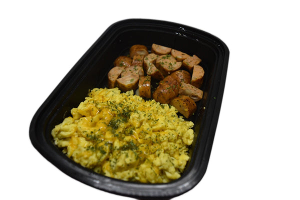Chicken Sausage Scrambler Breakfast Bowl