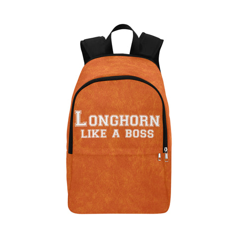 "Austin University ""Like a Boss"" Backpack - Orange"
